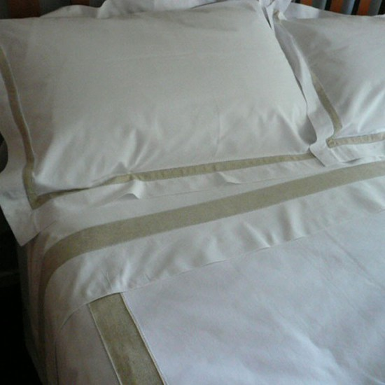 Cotton and Linen Sheet and Pillowcases