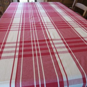 Red Check 100 % Cotton Tablecloth