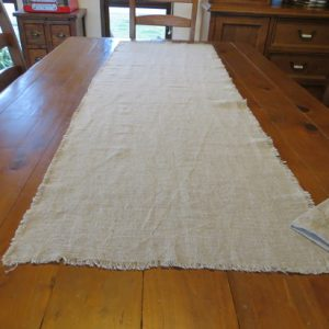 Natural Rough Linen Table Runner