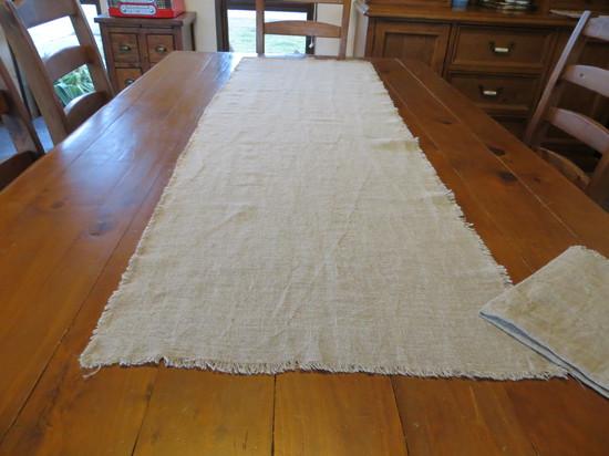 Natural Rough Linen Table Runner