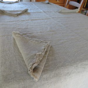 Natural Rough  Linen Tablecloth