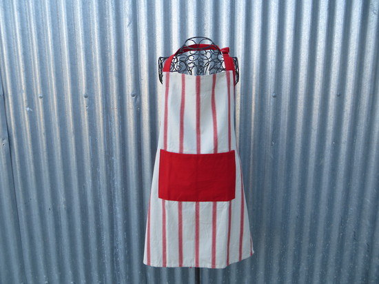 Red Stripe Apron
