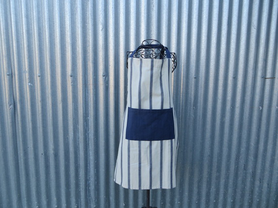 Blue Stripe Apron