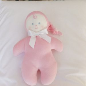 Pink Doll with Rattle