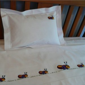 Bee Design Cot Sheet and Pillowcase