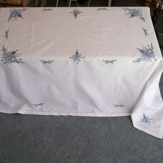 Christmas Blue Tablecloths and Napkins