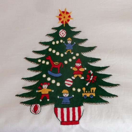 Christmas Tree Tablecloths and Napkins