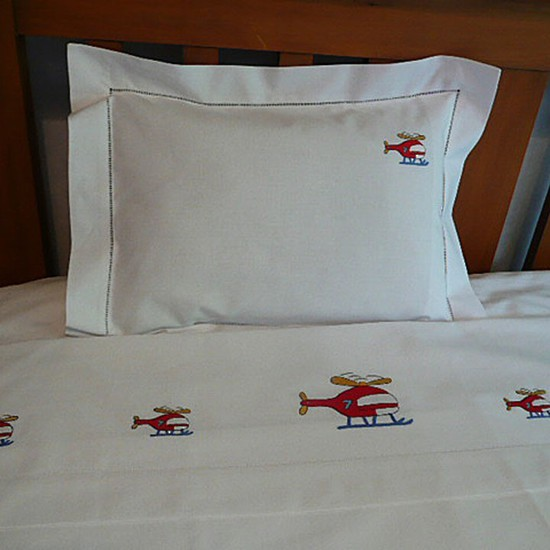 Helicopter Design Children's Sheet  and Pillowcases