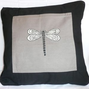 Grey Dragonfly Cushion Cover