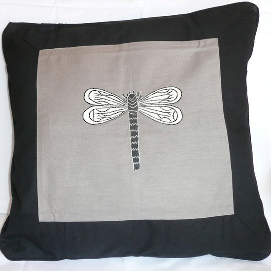 Grey Dragonfly Cushion Cover The Linen Collection