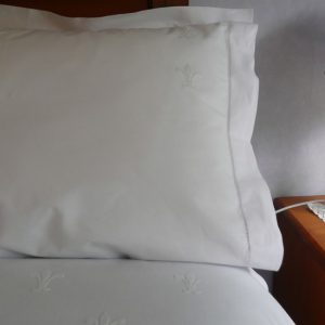 Cotton Fleur de Lis Sheet and Pillowcases