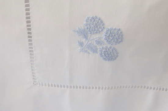 Small Tablecloth 90 x 90 cm- Blue Mimosa