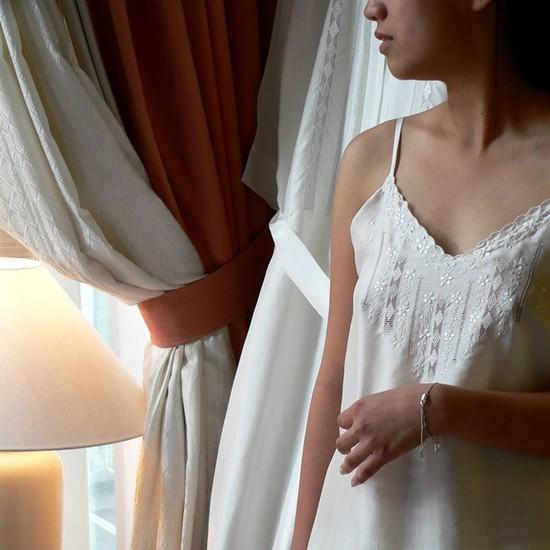 Silk Nightie with Straps