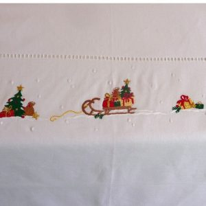 Christmas Sleigh Tablecloths and Napkins