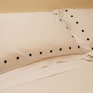 Black Spot Cotton Sheet and Pillowcases