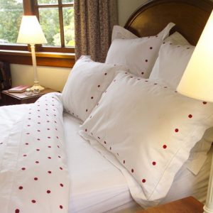 Red Spot Cotton Sheet  and Pillowcases