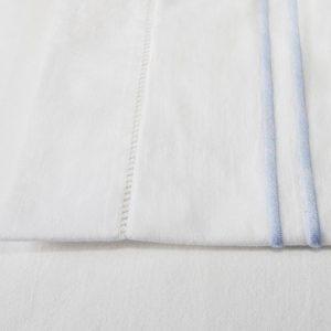 Light Blue Stripe Cotton Sheet and Pillowcases
