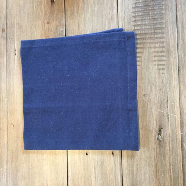 Dark Blue Cotton Napkin The Linen Collection